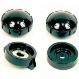 Radio Knob Set Black 1954-55 (