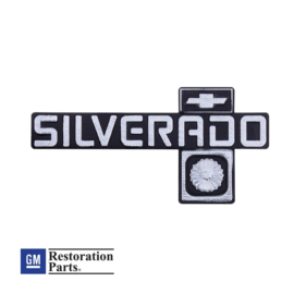 """Silverado"" Dash Emblem For 1981-87 Chevy Truck"
