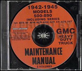 1942-1945 GMC 500-890 Heavy Truck Shop Manual CD
