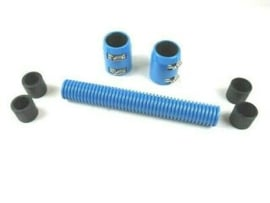 "12"" Stanless steel Radiator Hose Kit   Blue"