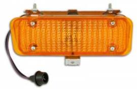 Parkeerlamp behuizing,   Amber  Links   1971-72