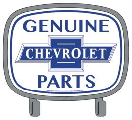 Genuine Chevrolet Parts Embossed Steel Coat Hook Sign