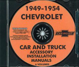Chevrolet Accessory Installation Manual CD 1949- 54  Chevrolet