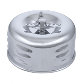 2-5/8'' Air Cleaner.  Luvr. w/WNG  Nut Low Profile.  Chrome