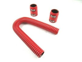 "24"" Stanless steel Radiator Hose Kit,  RED"