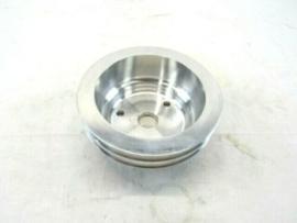 Chevy 350 Alum. Long Water Pump Crankshaft Pulley 2 groove