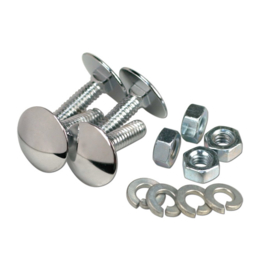 Stepside Running Board Bolt Kit - Chrome -  1955-66  ( for 1 side )