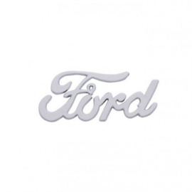"Chrome Vintage ""Ford"" Script Emblem"