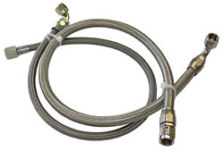 Rack and Pinion Power Steering Hose Kit, Braided Stainless
