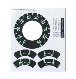 Gauge Decal Kit for 1954 Chevy Truck
