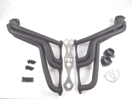 1935-1948 SBC Chevy 283-350 Fat Fenderwell Header Black