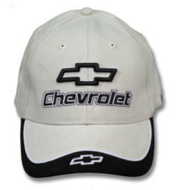 Hats  -- Chevrolet --  Bowtie decal  bone
