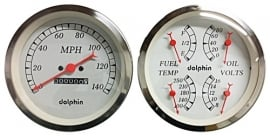 "3.3/8 "" Quad White w/mechanical speedo meter"
