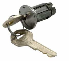 Contact slot met sleutel.  1947-66