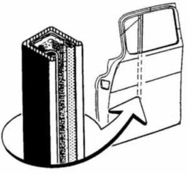 Window Division Bar 1955-63 & 1967-72 Chev/GMC Truck