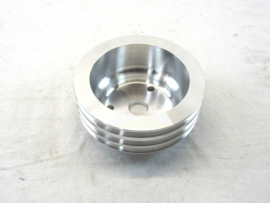 Aluminum Long Water Pump Crank Pulley 3 groove