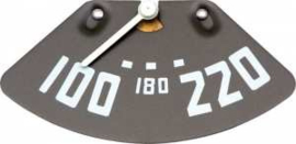Temperatuur meter. 1951-53.  Witte naald