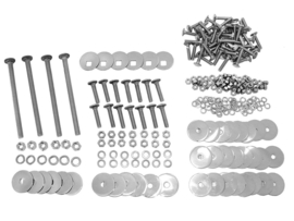 Polished Stainless Steel Bed Bolt Kit  1960-66