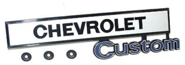 Glove Box Door Emblem - Chevrolet Custom  1969-72
