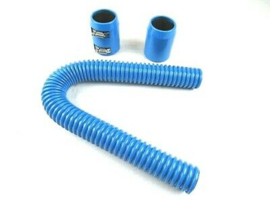 "24"" Stanless steel Radiator Hose Kit,  Blue"