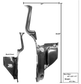 A Frame met kick paneel.  Rechts  1955-59
