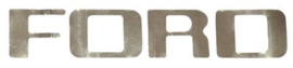 Ford Truck Tail Gate Lettering Decal.  1953-72.  Chrome