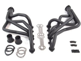 Chevy 350 Long Tube Header Chevelle, El Camino, Monte, Oldmobile Black