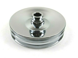 Power Steering Pulley V-Belt 2 Groove Press Fit Chrome