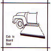 Ford Truck 1953-56 Running Board to Cab Seal