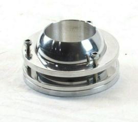 Aluminum Ball Swivel Lower Steering Column Mount 2'' Chrome