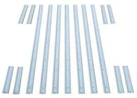 "Bed strips set  --Stainless steel -- 1958-59 Short Fleet  77-1/8"""