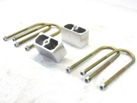 "Leaf Spring Lowering Block Kit.  1"" inch"