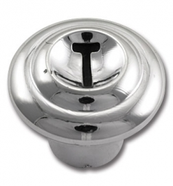 3-324-1. Hand gas knop.  1955-59,  Chroom