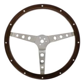 """15"""" Woodgrain Steering Wheel For 3-Bolt Hubs"""