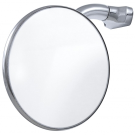 Peep Mirror - with Curved Arm - Round Head  4""