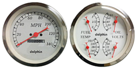 "5"" Inch  Quad Gauge with mechanical speedo.  metric."
