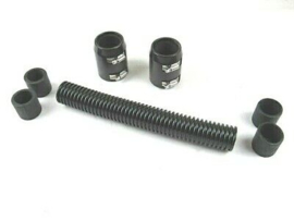 "12"" Stanless steel Radiator Hose Kit,  Black"