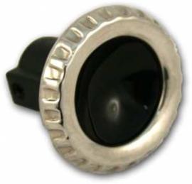 Ruitenwisser knop  1960-63    Zwart / stainless steel