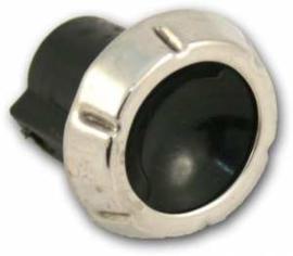 Ruitenwisser knop  1964-66   Zwart / stainless steel