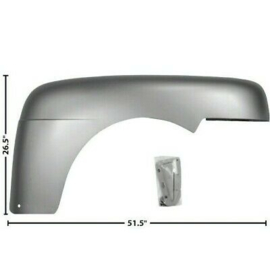 Fender Right Passenger Side Steel   1948-50