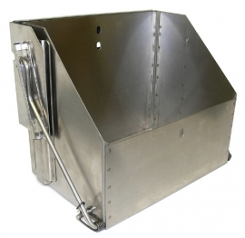 Battery Box, Drop Down,   Stainless Steel