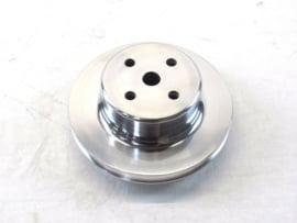 Big Block Chevy 454 Aluminum Long Water Pump Pulley 2 Groove