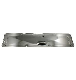 Chrome Steel Valve Cover Side Plate.  1950-62 Chevrolet
