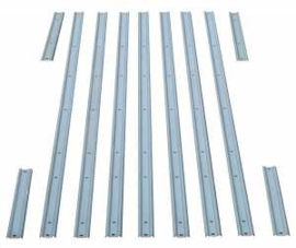Bed Strips Set.  1967-72  Short Bed Fleetside. -- Steel --