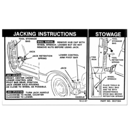 1968-72 Chevy / GMC Truck Jack Instruction Decal