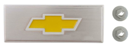 Center Console Emblem,  With Yellow Bowtie  1973-80