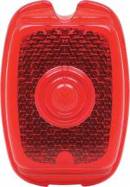 Achterlamp Lens 1940-53  Rood.  Plastic