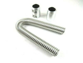 "24"" Stanless steel Radiator Hose Kit,  Polished"