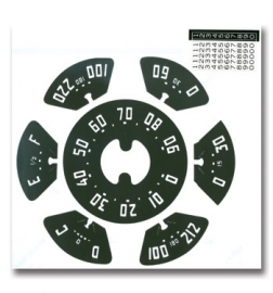Gauge Decal Kit-90 mph  1952-53