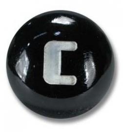 Choke knop met kabel.  1954-55  Zwarte knop